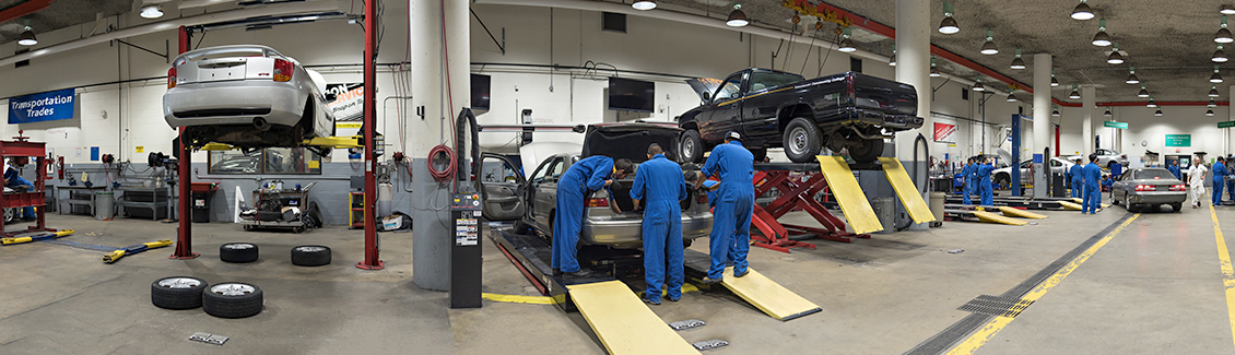 Automotive Service Program has a world class facility.
