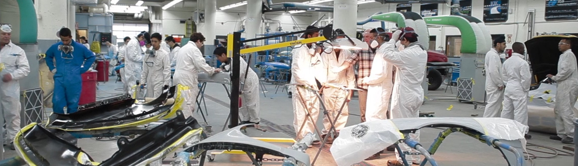 Collision and refinishing facility