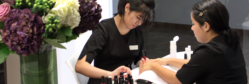 manicure station at VCC Salon & Spa