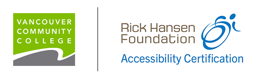Rick Hansen Foundation Accessibility Certification VCC logos
