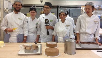 City TV host learns to bake at VCC.