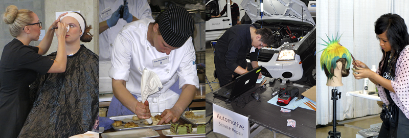 VCC students competing at the Skills Canada.
