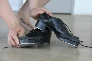 tap dancer shoes
